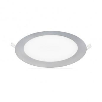 PLAFONNIER ROND LED 18W 3000K ALU 7757A