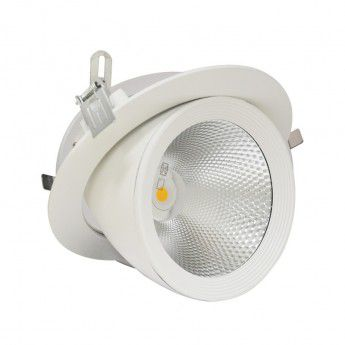 SPOT LED ESCARGOT ROND INCLINABLE ORIENTABLE 20W 3000K BLANC 7671